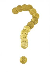 Illustration: Coins Question Mark