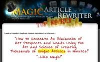 Magic Article Rewriter